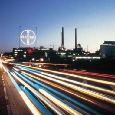 Bayer Konzern: Ein vertrauter Anblick: das Bayer-Kreuz in Leverkusen.