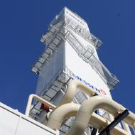 Lonza AG: Die neue Lufttrennanlage wurde im 2010 eingeweiht. Mit fast 60 Meter ist es eines der höchsten Gebäude in der Region.