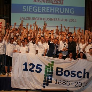 Businesslauf 2011 in Salzburg: Bosch Hallein stellte auch in diesem Jahr wieder – zum vierten Mal in Folge - die meisten Teams