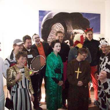 Alle verkleideten beim Fasching 2012.
