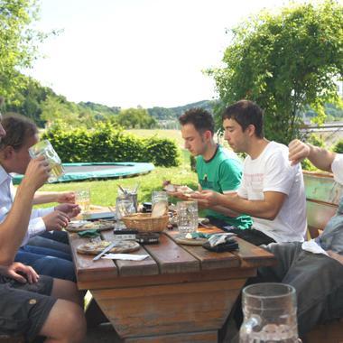 Allen schmeckt's, auch Daniel und Andi, zwei der Geschäftsführer von crealytics.