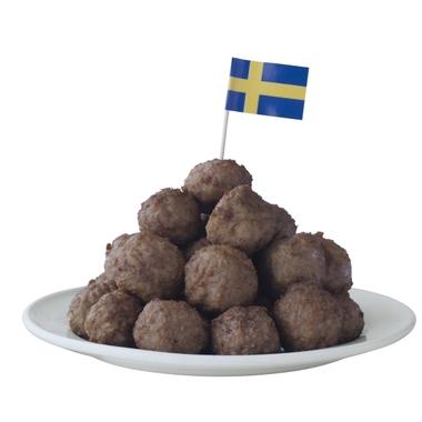"""Die heißgeliebten Fleischbällchen """"Köttbullar"""" gibt es selbstverständlich auch im IKEA Mitarbeiterrestaurant."""