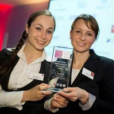 """zeb: Preisverleihung Great Place to Work """"Beste Arbeitgeber im Münsterland 2013"""" Platz 1 für zeb/"""