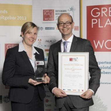 """zeb: Auszeichnung Great Place to Work """"Beste Arbeitgeber Deutschlands 2013"""" in Berlin"""