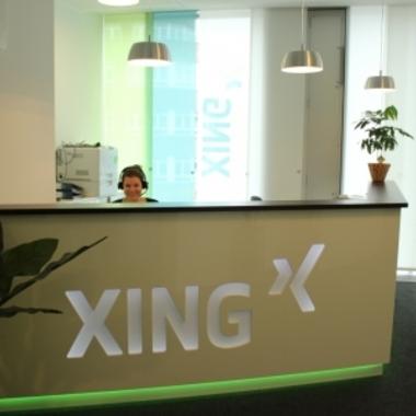 XING AG: Damit man auch weiß, wo man sich befindet - am Empfang von XING.