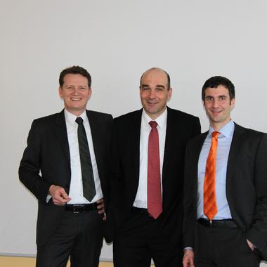 Unsere Geschäftsleitung: Peter Ostrop, Guido Ahle (Geschäftsführer) und Daniel Winkler.