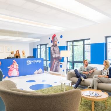 Goodgame Studios: Damit sich jeder wohlfühlt, kümmert sich unsere Innenarchitektin um die geschmackvolle Gestaltung der Büroräume.