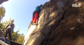 Bouldering in Fontainebleau | JACK WOLFSKIN employees