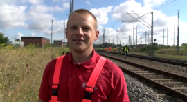Azubi zum Tiefbaufacharbeiter / Gleisbauer bei der Deutschen Bahn (Bodo Hanke)